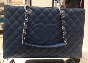 Chanel Navy XL GST Bag 2013
