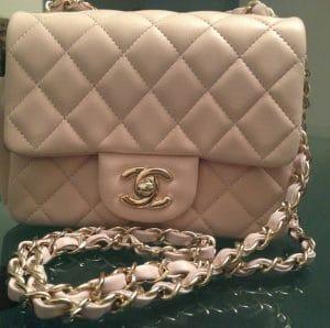 Chanel Pink Classic Flap Mini Bag 2013