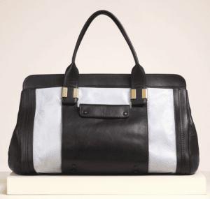Chloe Dusty Blue Python Alice Large Bag