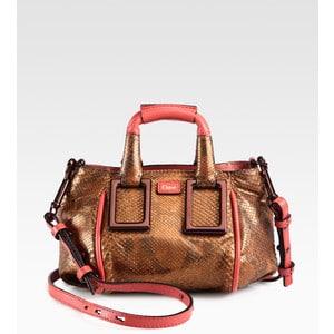 Chloe Bronze Python Mini Ethel Bag
