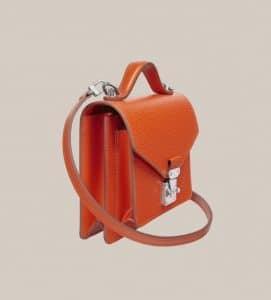 Side view Louis Vuitton Orangr Piment Monceau BB bag
