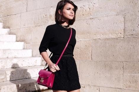 Miroslava Duma carrying Louis Vuitton Monceau bag