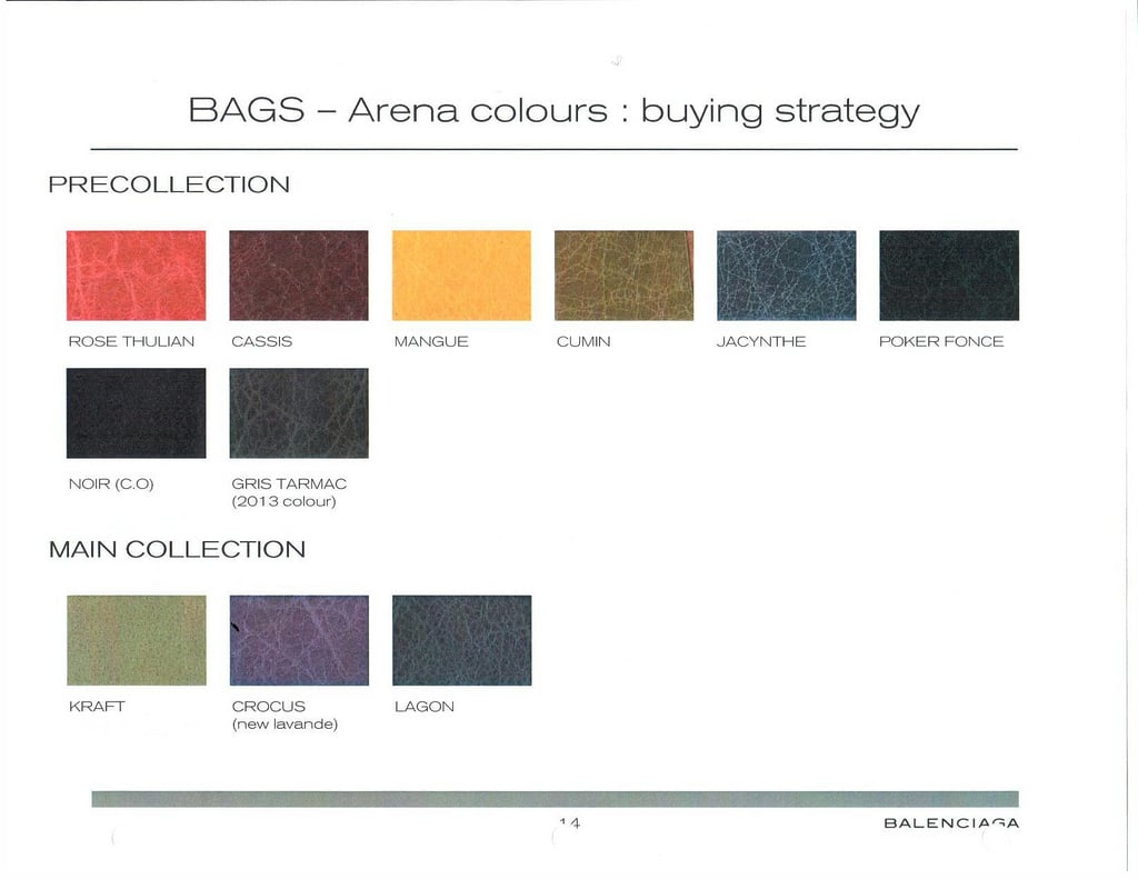 Balenciaga fall winter 2012 color chart reference guide balenciaga fallwinter 2012 color chart geenschuldenfo Choice Image