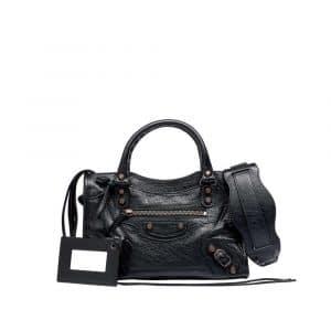 Balenciaga Black Classic Mini City Bag