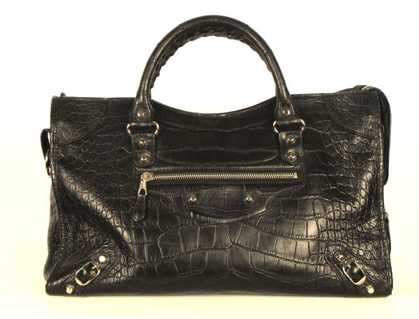Balenciaga Borse Costo : Balenciaga black crocodile bag spotted fashion