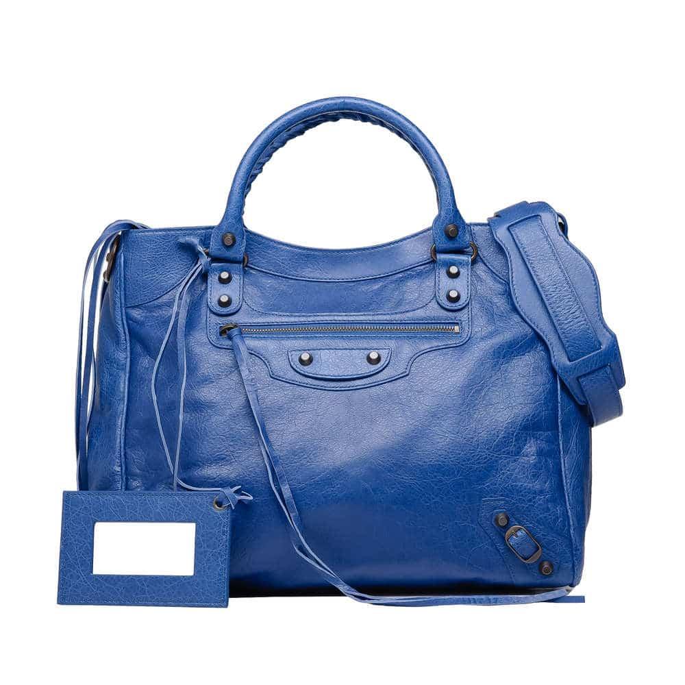 Balenciaga Bleu Cobalt Classic Velo Bag