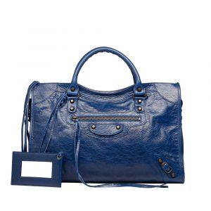 Balenciaga Bleu Mineral Classic City Bag