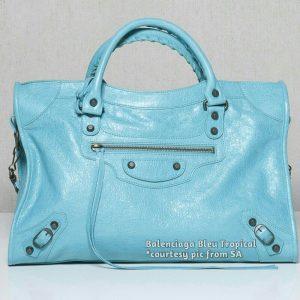 Balenciaga Bleu Tropical Classic City Bag