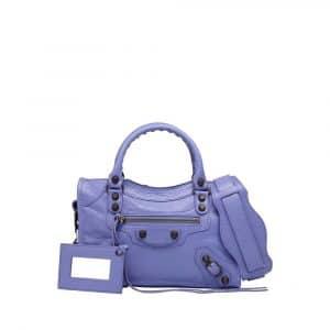 Balenciaga Mauve Classic Mini City Bag