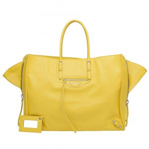 Balenciaga Yellow Jaune A4 Zip around bag