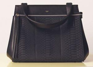Celine Black Python Edge Medium Bag