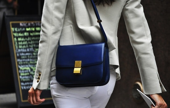 streetstyle shots celine blue bags spotted fashion