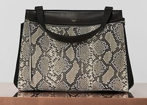 Celine Natural Python Edge Medium Bag