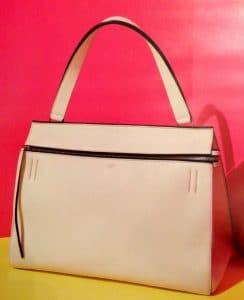 Celine White Grained Calfskin Edge Bag