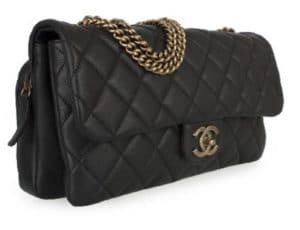 Chanel Black CC Crown Flap Small Bag
