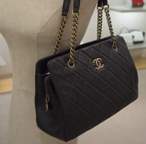 Chanel Black CC Crown Tote Small Bag