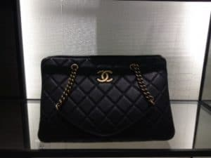 Chanel Black CC Crown Tote Large Bag