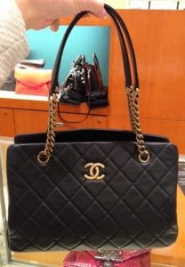 Chanel Black CC Crown Tote Small Bag2