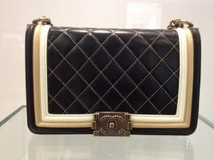 Chanel Black Quilted Boy Bag