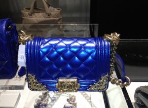 Chanel Blue:Gold Boy Bag
