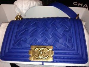 Chanel Cobalt Blue Chateau Boy Bag