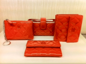 Chanel Coral Patent Wallets and Accessories