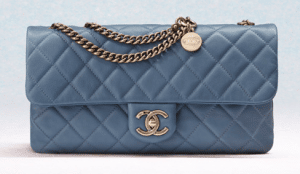 Chanel Dark Blue CC Crown Flap Small Bag
