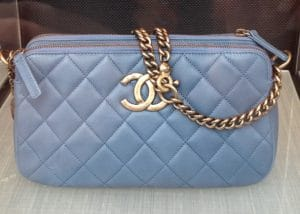 Chanel Dark Blue CC Crown Tote Bag