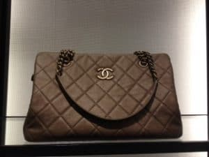 Chanel Gold CC Crown Tote Large Bag