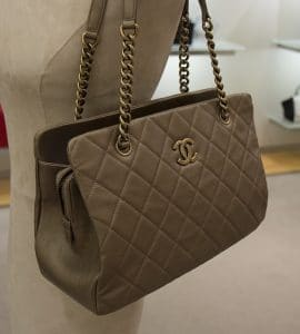 Chanel Gold CC Crown Tote Small Bag