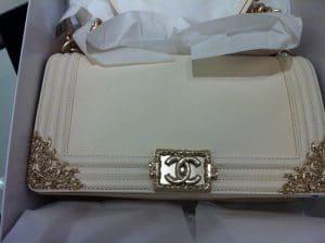 Chanel Ivory White Boy Bag