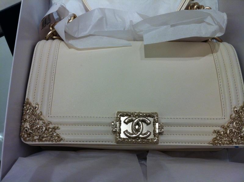 Chanel Boy Bag White Chanel Ivory White Boy Bag