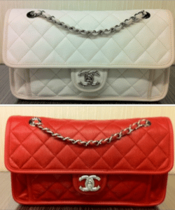 Chanel Ivory and Red French Riviera Medium Flap Bags