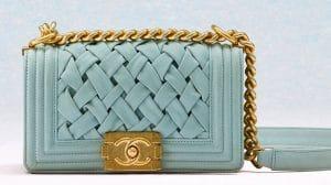 Chanel Light Blue Boy Chanel Chateau Bag