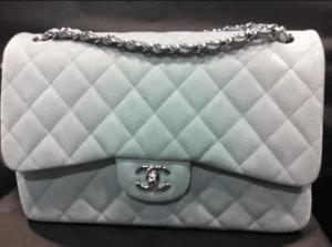 Chanel Light Blue Classic Medium Flap Bag