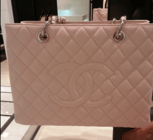 Chanel Light Pink Grand Shopping Tote Bag