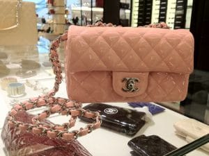 Chanel Mini Pink Patent Flap Bag - Cruise 2013