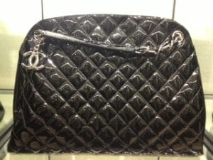 Chanel Patent Black Mademoiselle Bag - Cruise 2013