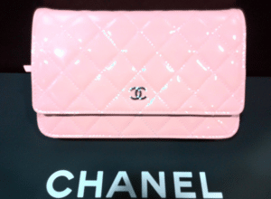 Chanel Pink Patent Classic Quilted WOC Bag
