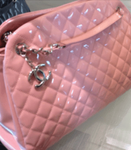 Chanel Pink Patent Mademoiselle Bag