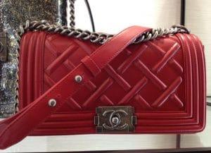 Chanel Red Boy Flap Bag