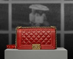 Chanel Red Quilted Boy Bag - Pre Spring 2013