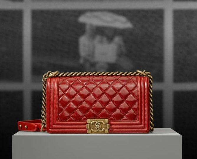 Small Quilted Chanel Bag Chanel Red Quilted Boy Bag