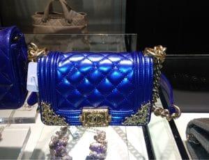 Chanel Royal Blue Boy Bag