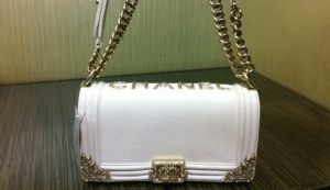 Chanel White Boy with Gold Flap Bag - Versailles Cruise 2013