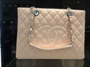 Chanel White GST Tote Bag - Cruise 2013