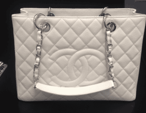 Chanel White Grand Shopping Tote Bag
