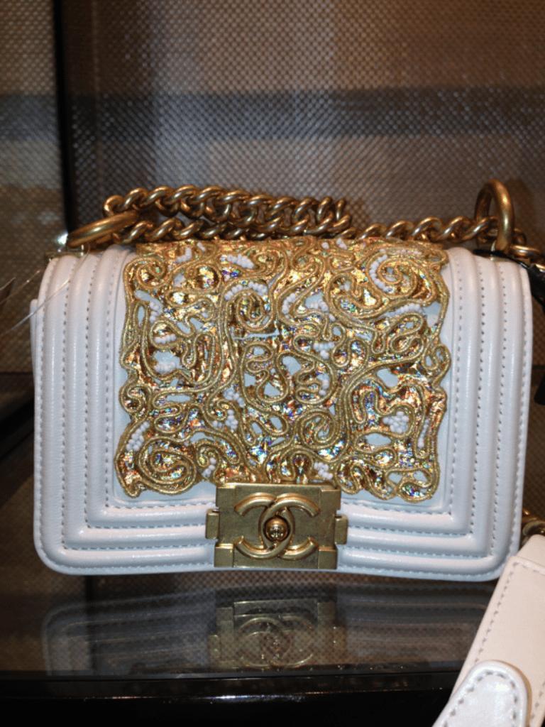 Chanel Boy Bag White Chanel White:gold Boy Bag