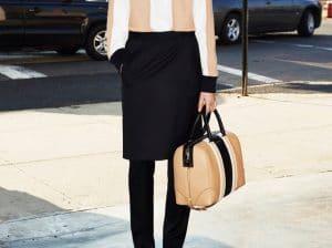 Givenchy Beige Black Lucrezia Bag - Prefall 2013