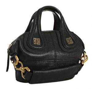 Givenchy Black Pebbled Leather Nightingale Mini Bag